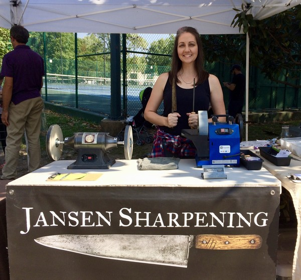 Maria Jansen, Sharpening at Farmer's Market