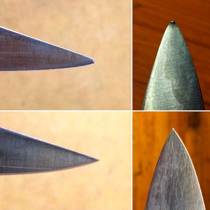 Before & After Knife Tip Repair