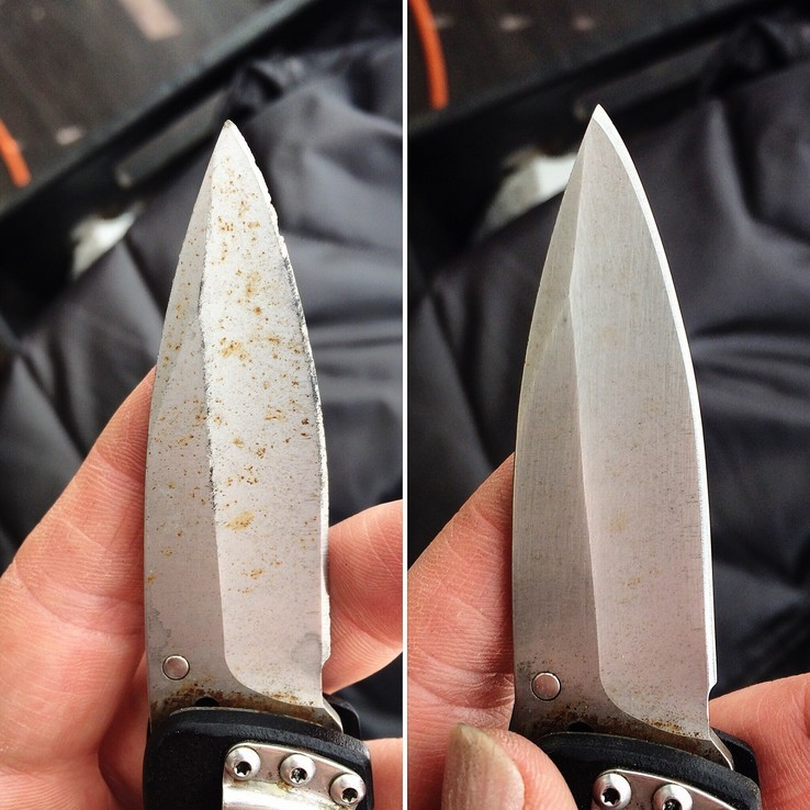 Pocket Knife before & after