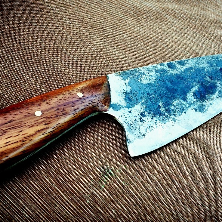 Knife made from a saw blade