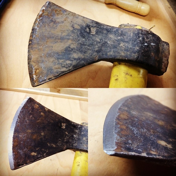 Ax Sharpening Before & After